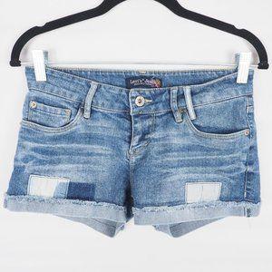 Levi's Jeans Denim Shorts Patchwork Cuffed 3